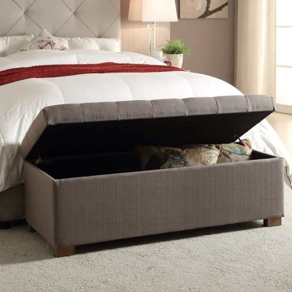 Shop Porch Amp Den Large Tufted Storage Bench Free