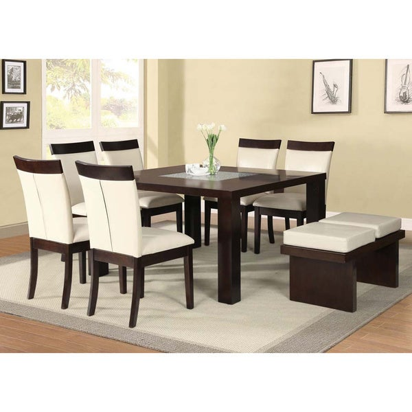Izium Espresso Beige 8 Piece Dining Set Free Shipping Today