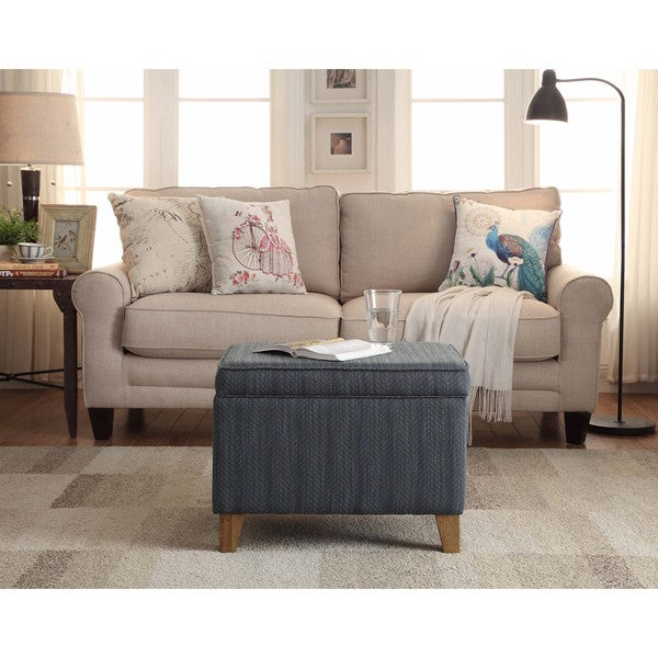 HomePop Aegean Storage Ottoman Free Shipping Today Overstock