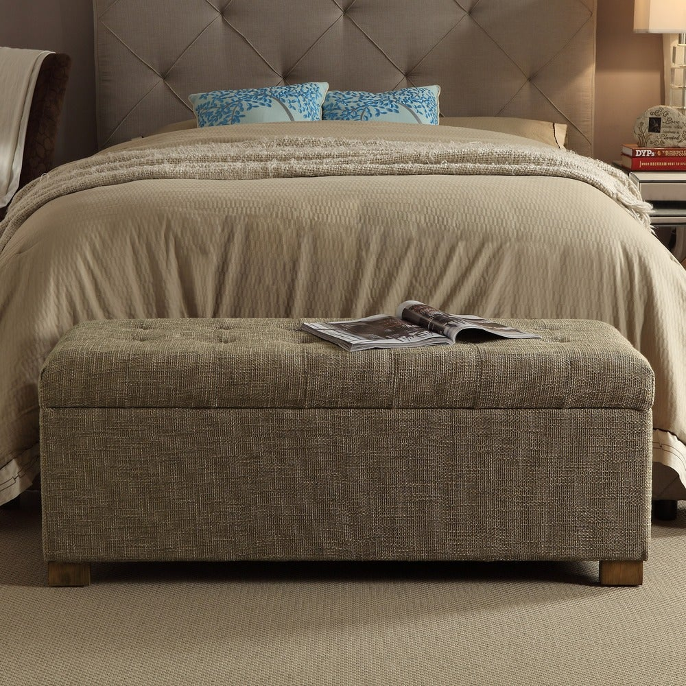 Porch & Den Franklin Large Tufted Storage Bench