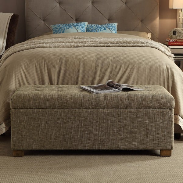 Porch U0026amp; Den Los Feliz Franklin Large Tufted Storage Bench