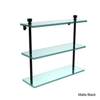 Allied Brass Foxtrot Collection 16-inch 3-tiered Glass Shelf (Option: Matte Black)