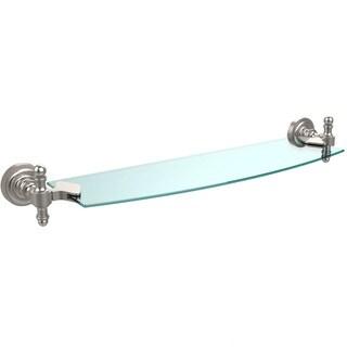 Retro Dot 18-inch Glass Shelf