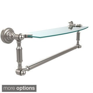 Allied Brass Dottingham 18-inch Glass Vanity Shelf with Integrated Towel Bar