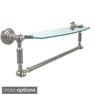 Allied Brass Dottingham 18-inch Glass Vanity Shelf with Integrated Towel Bar