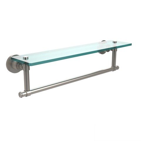 Washington Square Collection 22-inch Glass Vanity Shelf with Integrated Towel Bar