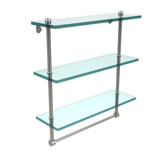16-inch 3-tiered Glass Shelf with Integrated Towel Bar (More options available)