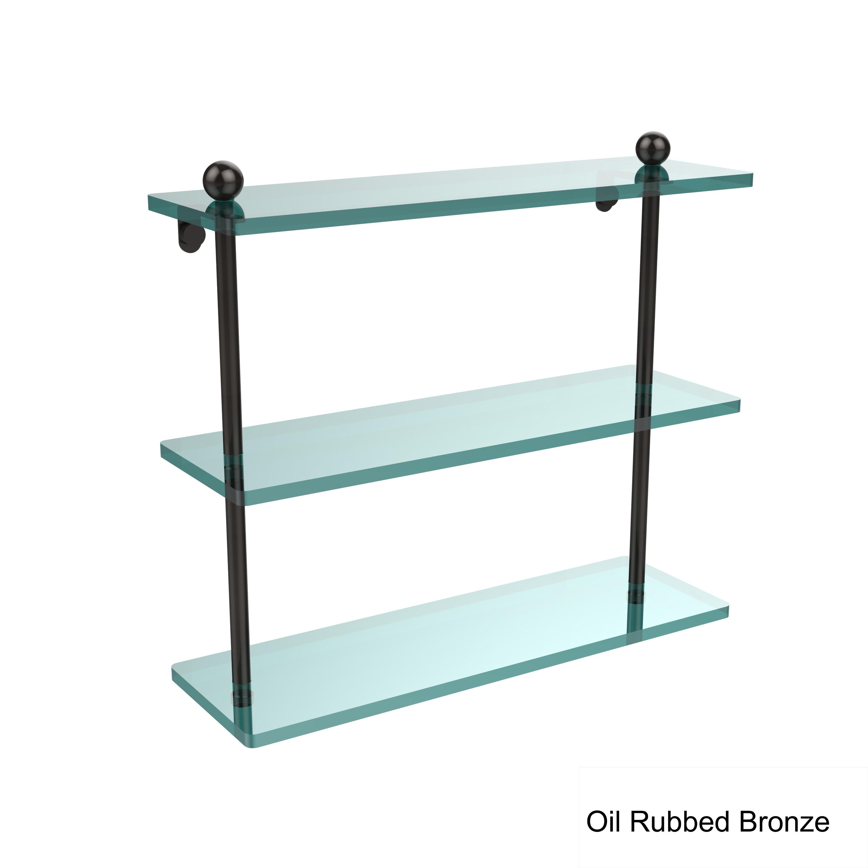 16 X 5 Triple Glass Shelf. Finish Oil Rubbed Bronze | eBay