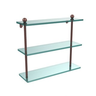 16-inch 3-tiered Glass Shelf