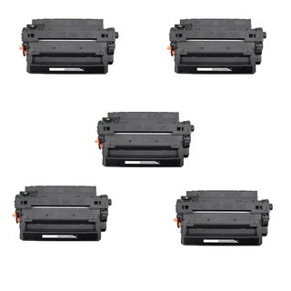 HP CE255X (HP 55X) Remanufactured Compatible Black Toner Cartridge (Pack of 5)