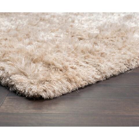 Kosas Home Handwoven Isador Sand Shag Rug (8' x 10')