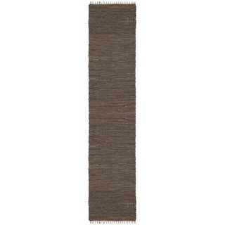 Brown Matador Leather & Hemp (2.5'x14') Runner