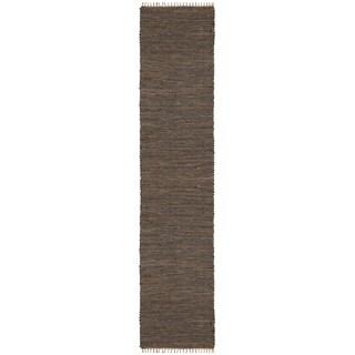 Brown Matador Leather & Hemp (2.5'x14') Runner