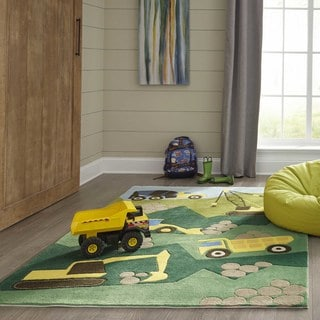 Momeni 'Lil Mo Construction Green Rug (8' x 10')