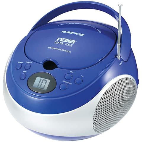Naxa Electronics NPB-252 Portable MP3/ CD Player with AM/FM Stereo Radio