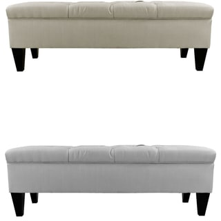 Sachi Diamond Tufted Upholstered Storage Bench