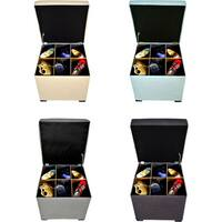 The Sole Secret Upholstered Mini Square Shoe Storage Ottoman