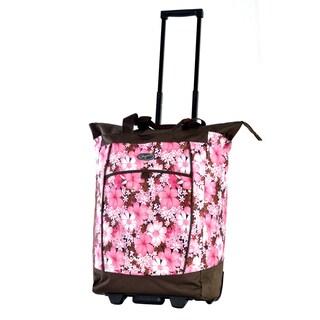Olympia Cherry Blossom Fashion Rolling Shopper Tote