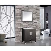 MTD Vanities Monaco 30-inch Single Sink Bathroom Vanity Set with Mirror and Faucet