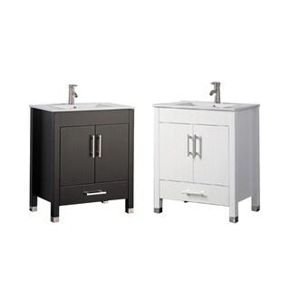 MTD Vanities Monaco 36-inch Single Sink Bathroom Vanity Set with Mirror and Faucet - Espresso