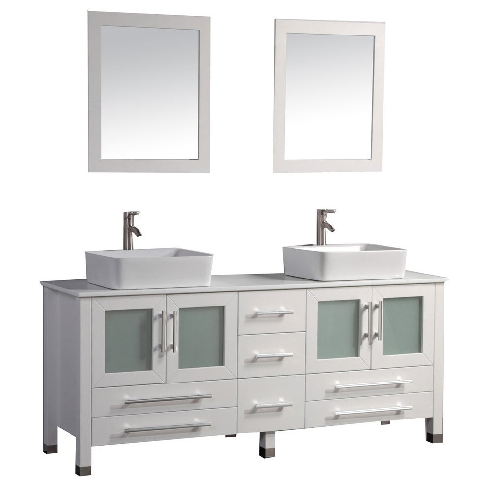 MTD Vanities Malta 71 Inch Double Sink Bathroom