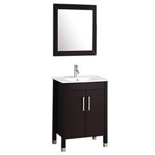 MTD Vanities Monaco 24-inch Single Sink Bathroom Vanity Set with Mirror and Faucet