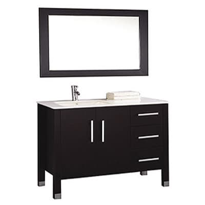 Mtd Vanities Monaco 40 Inch Single Sink Bathroom Vanity Set Sink On Left Side With Mirror And
