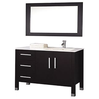 shop mtd vanities monaco 40 inch single sink bathroom vanity set sink on right side with. Black Bedroom Furniture Sets. Home Design Ideas