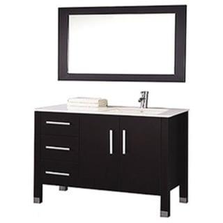 Mtd Vanities Monaco 40 Inch Single Sink Bathroom Vanity Set Sink On Right Side With Mirror And