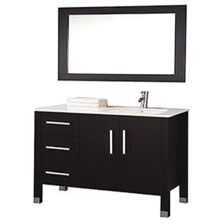 MTD Vanities Monaco 40-inch Single Sink Bathroom Vanity Set (Sink on Right Side) with Mirror and Faucet