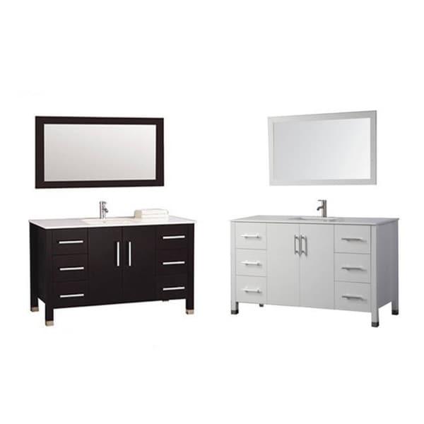 MTD Vanities Monaco 48 Inch Single Sink Bathroom Vanity Set With Mirror And  Faucet