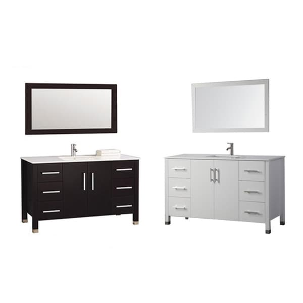Mtd vanities monaco 48 inch single sink bathroom vanity for 48 inch mirrored bathroom vanity