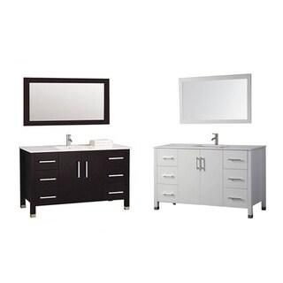 MTD Vanities Monaco 48-inch Single Sink Bathroom Vanity Set with Mirror and Faucet