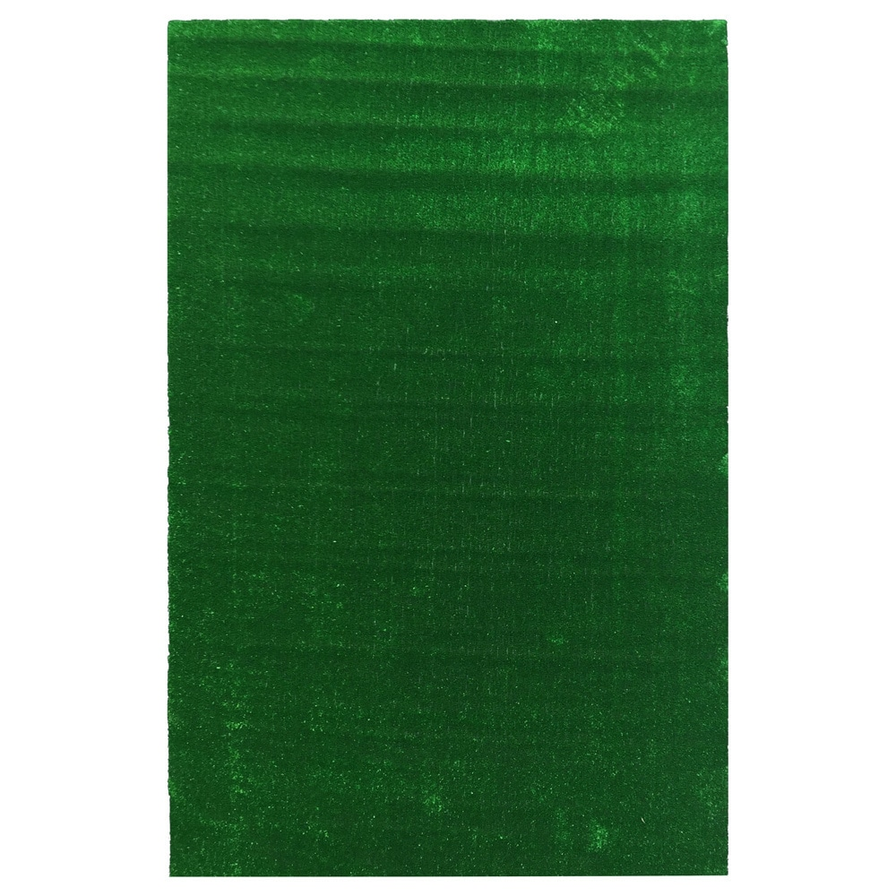 Ottomanson Evergreen Collection Green Artificial Grass De...