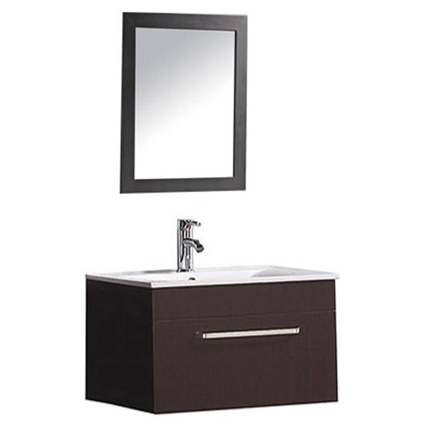 65 Inch Bathroom Vanity Single Sink: Shop MTD Vanities Nepal 24-inch Single Sink Wall Mounted
