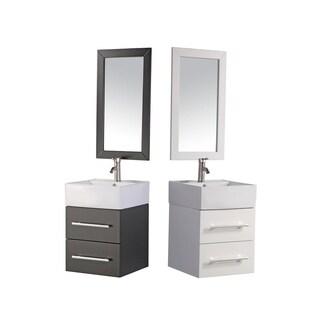MTD Vanities Nepal 18-inch Single Sink Wall Mounted Bathroom Vanity Set, Espresso