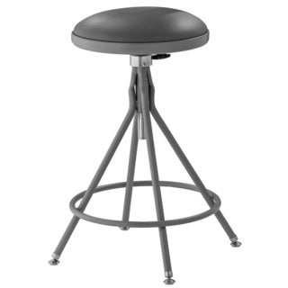 "Swivel Stool w/ Adjustable Vinyl Padded Seat - 26-32""H"