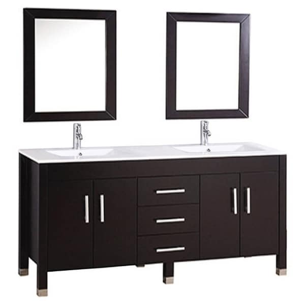 Shop Mtd Vanities Monaco 63 Inch Double Sink Bathroom Vanity Set With Mirror And Faucet Free