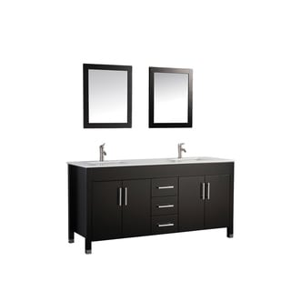 MTD Vanities Monaco 63-inch Double Sink Bathroom Vanity Set with Mirror and Faucet