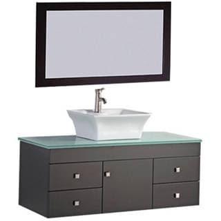 MTD Vanities Nepal 48-inch Single Sink Wall Mounted Bathroom Vanity Set with Mirror and Faucet