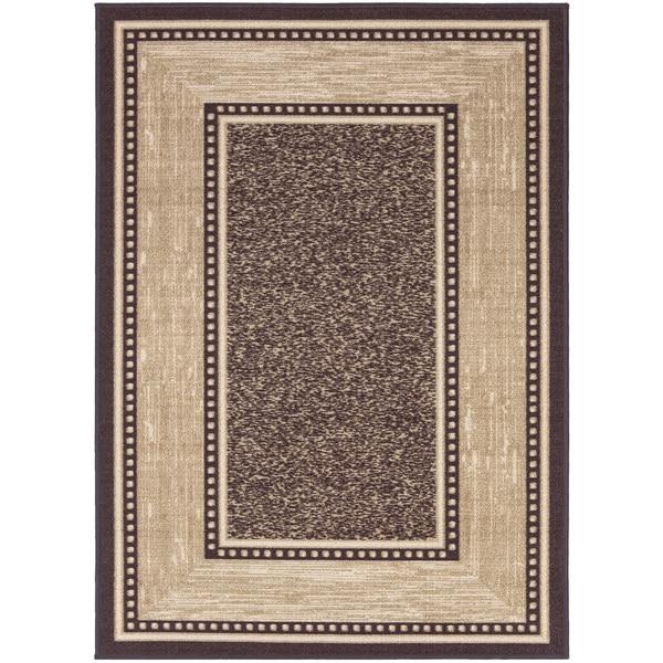 Ottomanson Ottohome Collection Choclate Contemporary