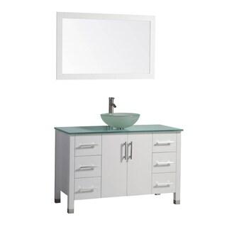 MTD Vanities Cuba 48-inch Single Sink Bathroom Vanity Set with Mirror and Faucet