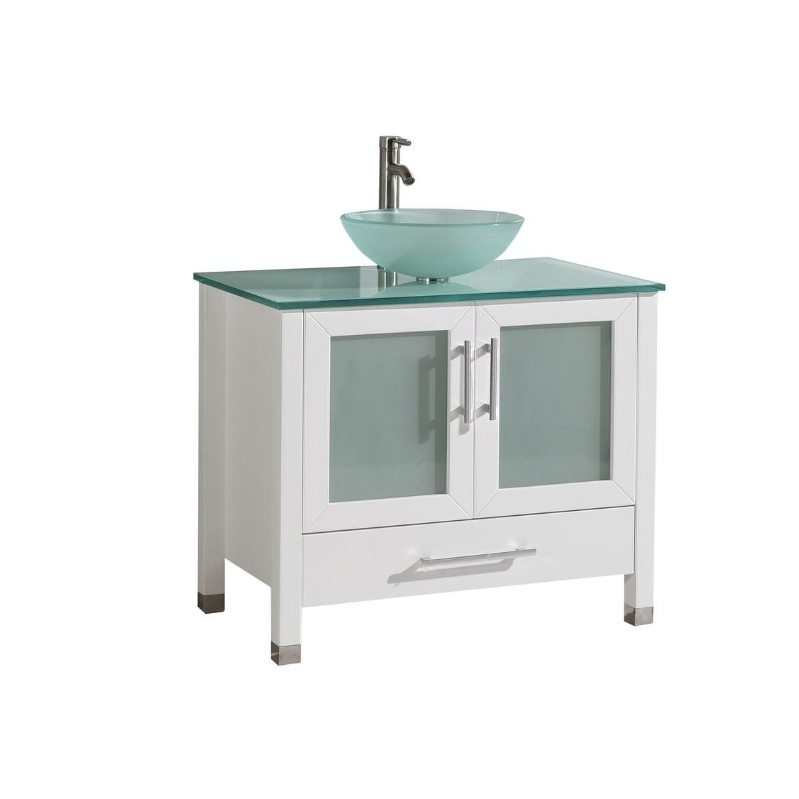 Cuba 36 Inch Single Sink Bathroom Vanity Set Overstock 10410752