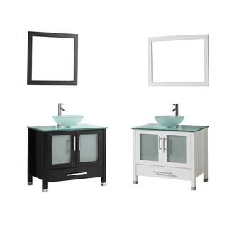 MTD Vanities Cuba 36-inch Single Sink Bathroom Vanity Set with Mirror and Faucet