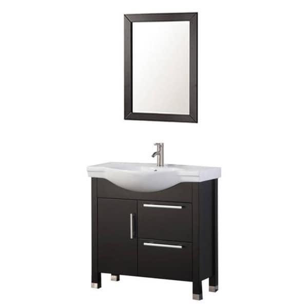 Shop mtd vanities peru 36 inch single sink bathroom vanity set espresso free shipping today for 36 inch espresso bathroom vanity