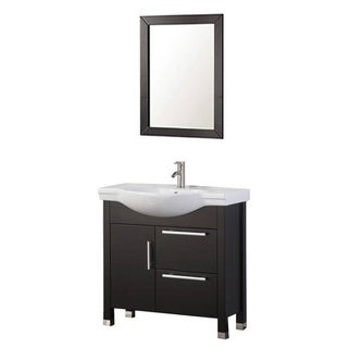 MTD Vanities Peru 36-inch Single Sink Bathroom Vanity Set, Espresso
