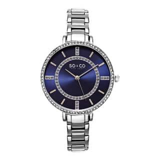 SO&CO New York Women's SoHo Quartz Stainless Steel Crystal Bracelet Watch|https://ak1.ostkcdn.com/images/products/10410859/P17511507.jpg?impolicy=medium