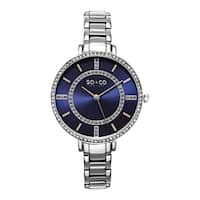 SO&CO New York Women's SoHo Quartz Stainless Steel Crystal Bracelet Watch