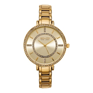 SO&CO New York Women's SoHo Quartz Goldtone Stainless Steel Crystal Bracelet Watch
