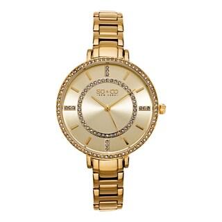 SO&CO New York Women's SoHo Quartz Goldtone Stainless Steel Crystal Bracelet Watch